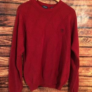 IZOD Men's Crew Neck Cable Knit Pullover Sweater